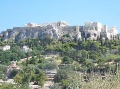 Vue sur l'Acropole, Agora d'Athènes, août 2016